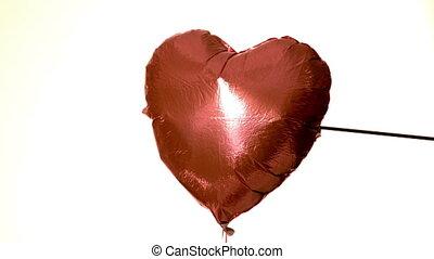 par, flèche, coeur, tir, balloon
