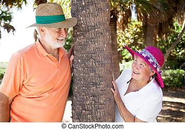 par, flörtande, senior