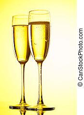 par, flautas champaña