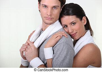 par, gymnastiksal, tillsammans