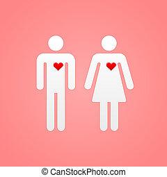 par, hjärtan, älskarna