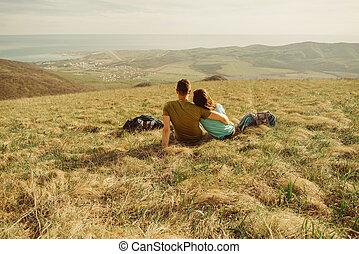 par, hvile på, eng