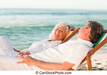 par, idoso, relaxante