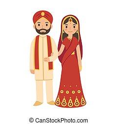 par, indianas, casório