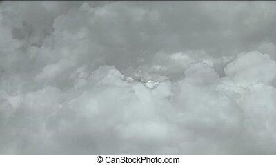 par, jeûne, nuages, orage, voler