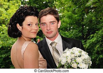 par, jovem, ao ar livre
