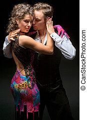 par, jovem, dançar