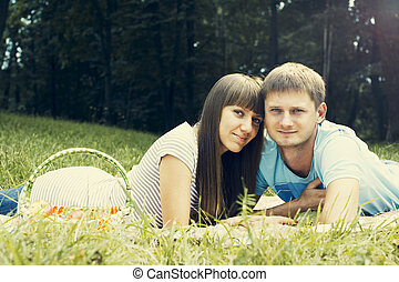 par, jovem, enamoured