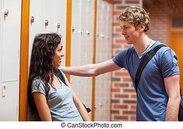 par jovem, flertar