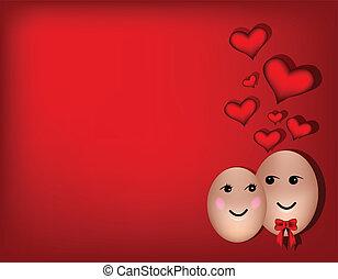 par, kärlek, lycklig