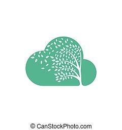 par, leafs., souffler, vent