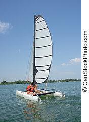 par, ligado, sailboat