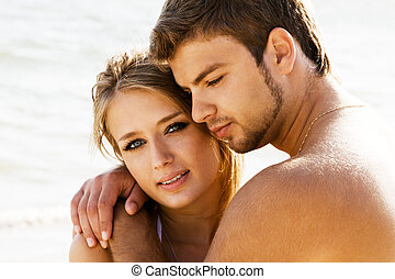 par, litoral, romanticos