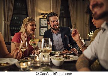 par, måltiden, restaurang