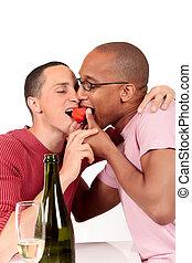par misturado, etnicidade, homossexual