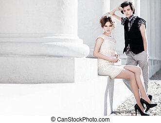 par, moda, jovem