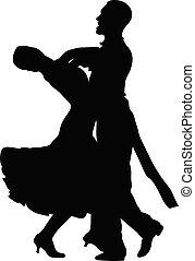 par, mujer, bailarines, hombre