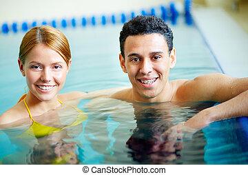 par, nadadores