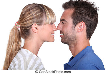 par, narizes esfregando