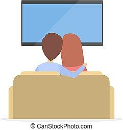 par, observar, tv.
