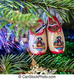 par, obstáculos, árvore, natal, holandês