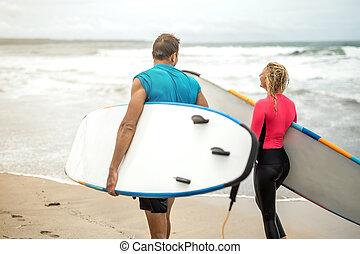 par, ocean's, kust, surfarear