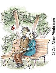 par, parkera, äldre