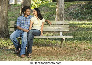 par, parque, bench.