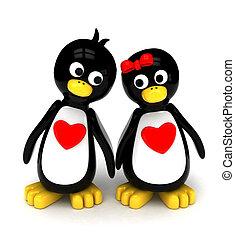 par, pingüim