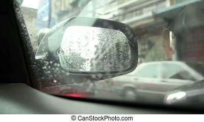 par, regard, fenêtre voiture