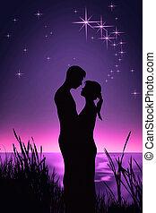 par romántico