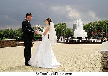 par, romanticos, casório