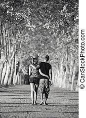 par, romanticos, passeio