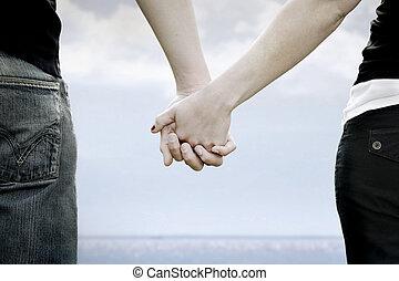 par, rummer, hænder