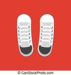 par, sapatos brancos