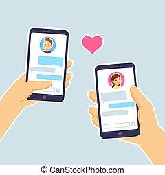 par, smartphone, texting