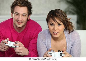 par, spelande video vilt