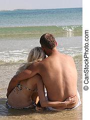 par, strand, avkopplande