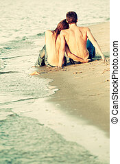 par, stranden