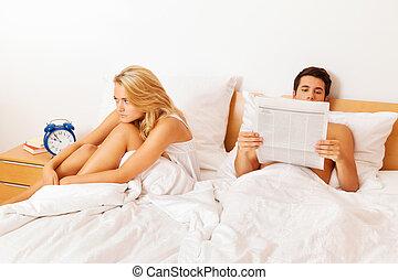 par, tem, problemas, e, crisis., divórcio, e, separações