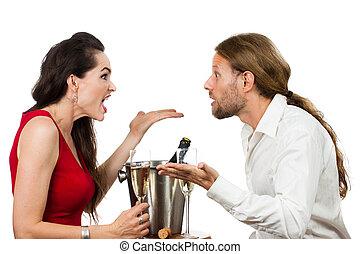 par, uma data, argumentar