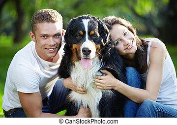 par, ung, hund