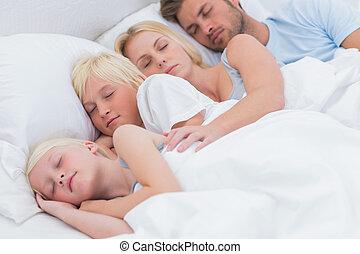 par, vacker, barn, deras, sova