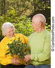 par velho, apaixonadas
