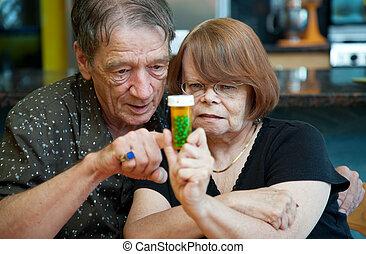 par velho, casa, com, prescrição