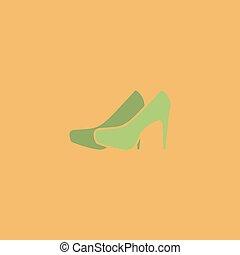 par, vetorial, sapatos