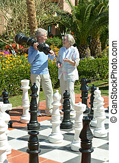 par, xadrez jogando