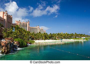 paraíso, atlantis, isla, nassau, bahamas., hotel