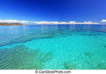 paraíso,  Okinawa,  tropical, mar