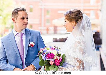 para, żonaty, właśnie, outdoors